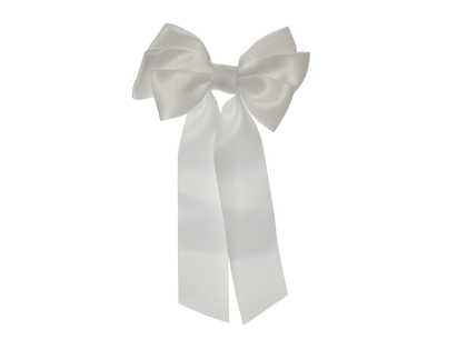 Hair clip with bow 'Mardie' white