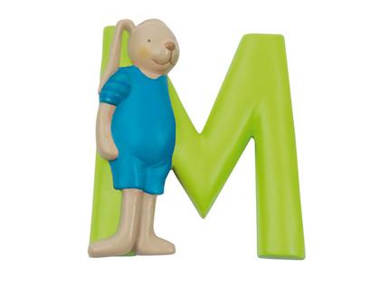 Letter M (lime)