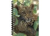 Anteckningsbok 3D Leopardunge i träd stor