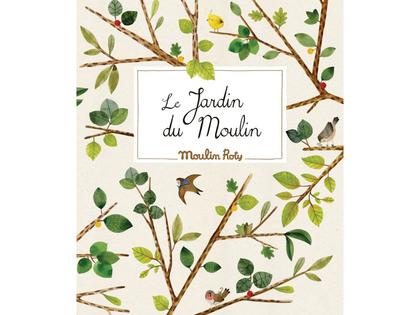 Blomsterpress 'Le Jardin' engelsk