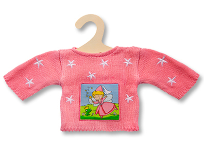 Knitted jersey for doll (30cm)
