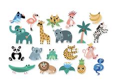 Magnets 'jungle animals' Michelle Carlslund