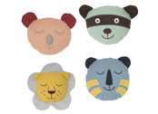 Rattle 'Animals' in linen (assorted)