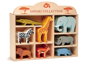 Shelf with African animals