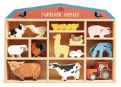 Shelf with farm animals