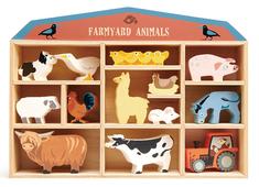 Hylla med bondgårdsdjur