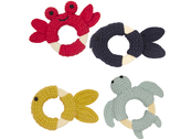 Teether 'Sea animals with ring' assorted