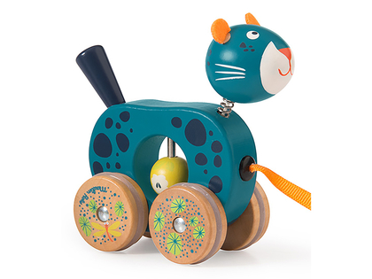 Pull toy panter 'Dans la Jungle' small