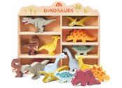 Hylla med dinosaurier
