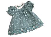 Doll dress 'Kiddy' (40cm) teal dot