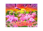Bild 3D Flamingos
