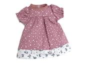 Doll dress 'Kiddy' (40cm) pink dot