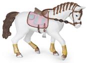 Häst med flätad man