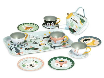 Tea set 'Snow animals' with music Michelle Carlslund