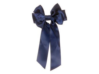 Hair clip with bow 'Mardie' marine