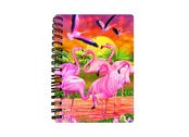 Anteckningsbok 3D Flamingos liten