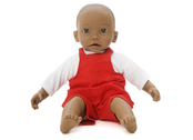 Doll clothes dungarees (40cm) red