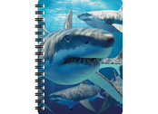 Notebook 3D Great white sharks large