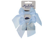 Bows on hair tie 'Mardie' light blue