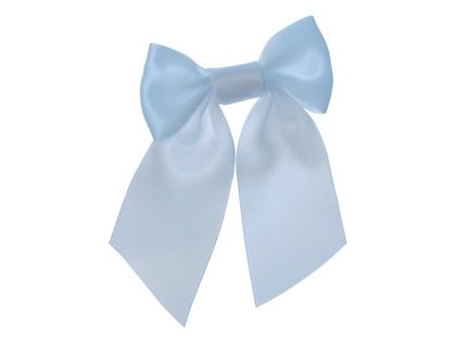 Bows on hair tie 'Mardie' light blue