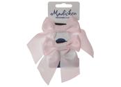 Bows on hair tie 'Mardie' pink