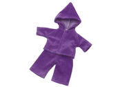 Doll clothes with hood (40cm) purple