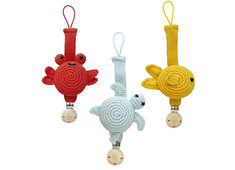 Pacifier cord 'Sea animals' assorted