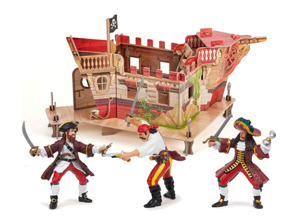 Pirate fort with Papo figurines
