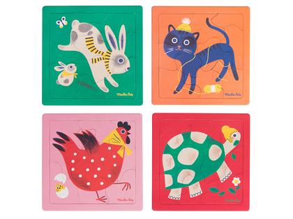 Pussel 'Les Bambins' fyra djur
