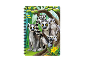 Anteckningsbok 3D Lemurer liten