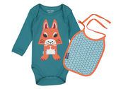 Body & bib organic 'Squirrel'