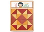 Puzzle patchwork quilt