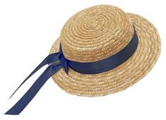 Straw hat flat 'Mardie' marine