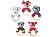 Rattle 'Crochet woodland animals' assorted