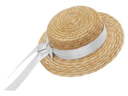 Straw hat flat 'Mardie' white