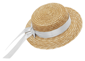 Straw hat flat 'Mardie' white