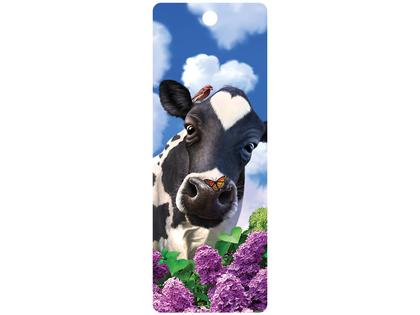 Bookmark 3D Curious Cow