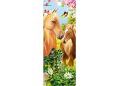 Bokmärke 3D Häst & Två Föl