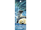 Bookmark 3D Harp Seals