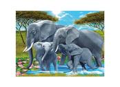 Kort 3D Elefantfamilj