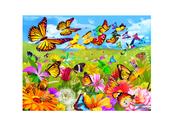 Kort 3D Fjärilar