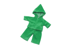 Doll clothes with hood (40cm) green