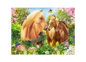Kort 3D Häst & två föl