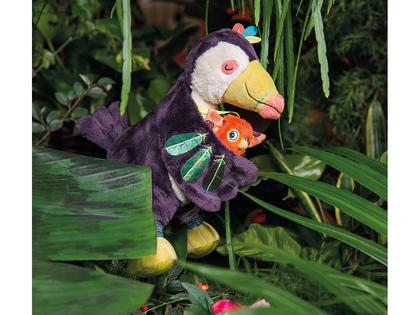 Bitring fågel 'Dans la Jungle'