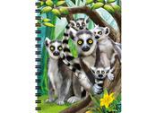 Notebook 3D Lemurs large