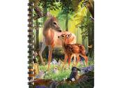 Notebook 3D Deer at dawn large