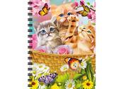Notebook 3D Kitten fun time large