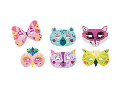 Masker 'Les Broc & Rolls' pastellfärger