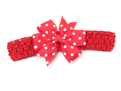 Hairband with bow 'Lotta' prick