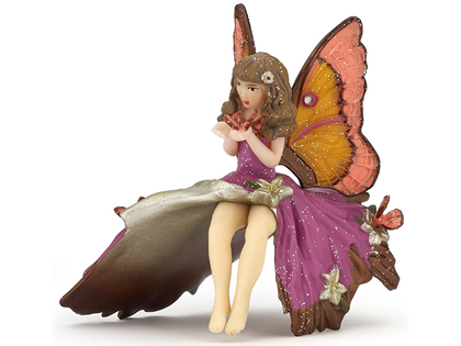 Fairy Child with Butterfly (purple)